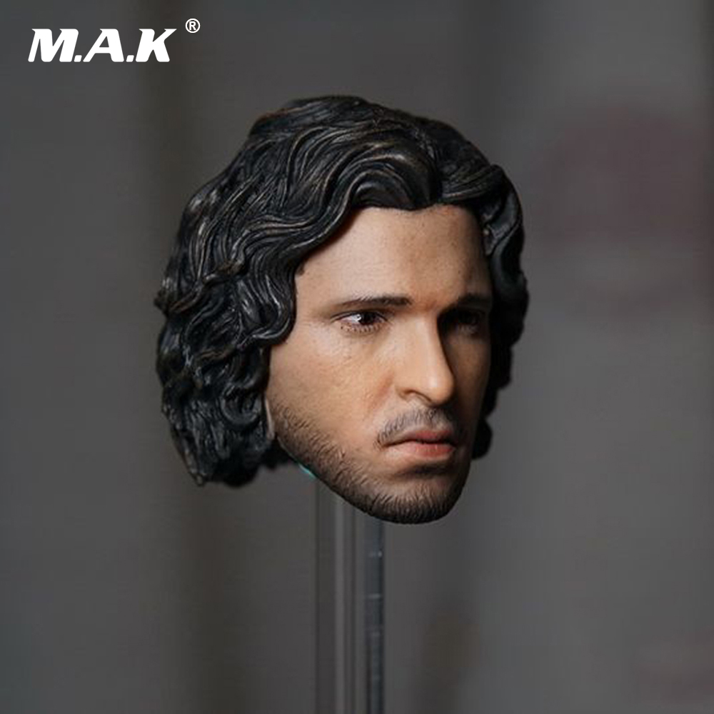 1/6 Scale Game of Thrones Action Figure Jon Snow Head Sculpt With Curly Long Hair For 12'' Male Figures Bodies 1 6 scale male clothes suit the game of death bruce lee head sculpt