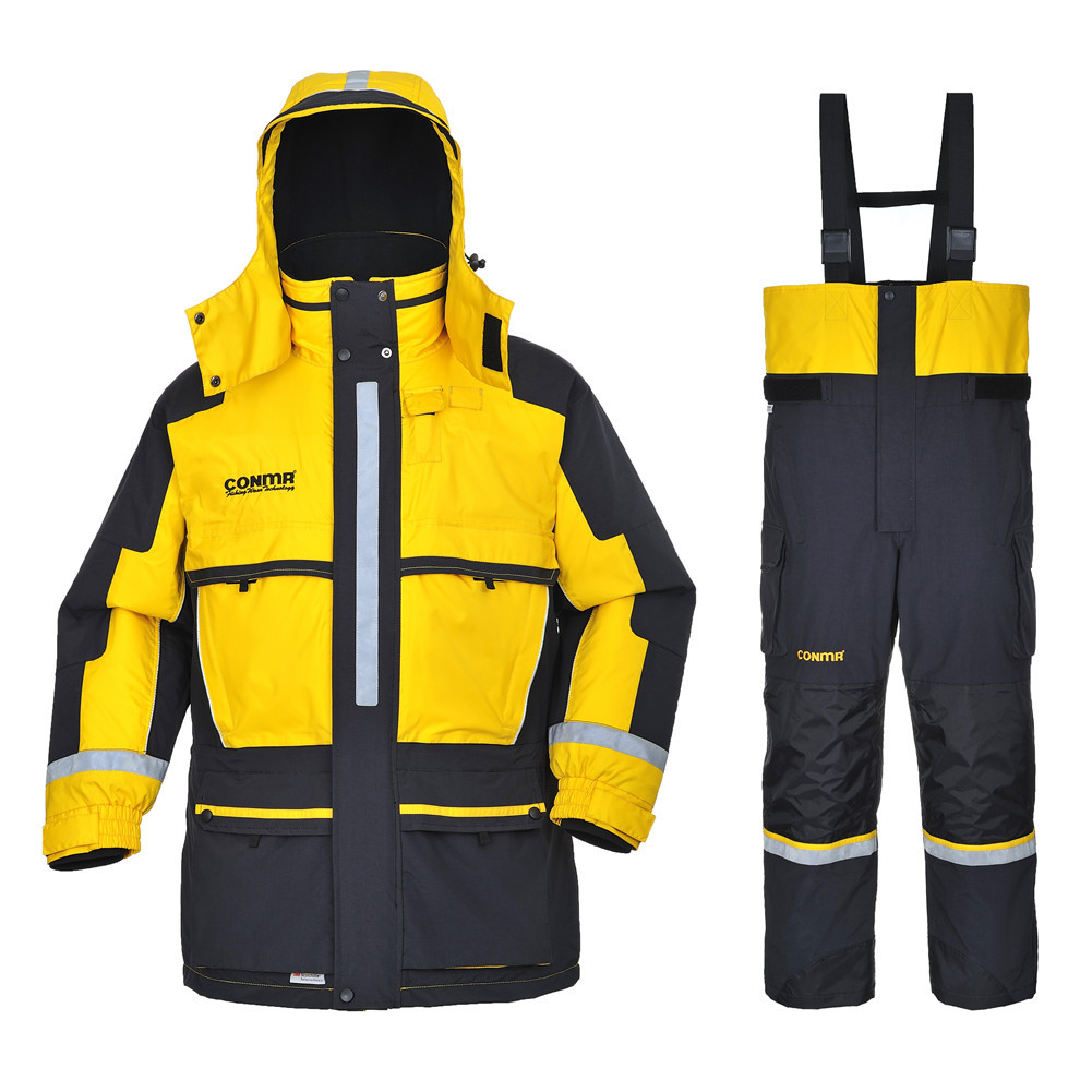 Greatrees Men s Nylon Lifesaving Floatation Suits for Yellow waterproof breathable windproof Suits