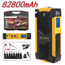 82800 мАч высокое мощность автомобиля скачок стартер 12 в портативный пусковое устройство power Bank автомобильное зарядное устройство для автомобиля батарея бустер Buster 4 USB