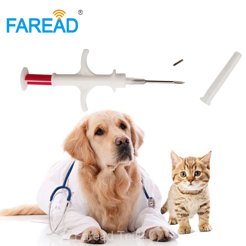 X100pcs FDX-B ISO11784/5 Chip Dog Animal Veterinary Syringe For Microchip Pet Transponder