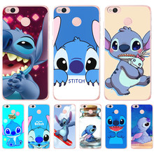 Cartoon For Coque Xiaom Redmi 4 4x pro 4A 5A 5 6 7 Plus Note 3 4 4x Prime 6 6A Stitch mobile phone Case back Cover cute pattern(China)