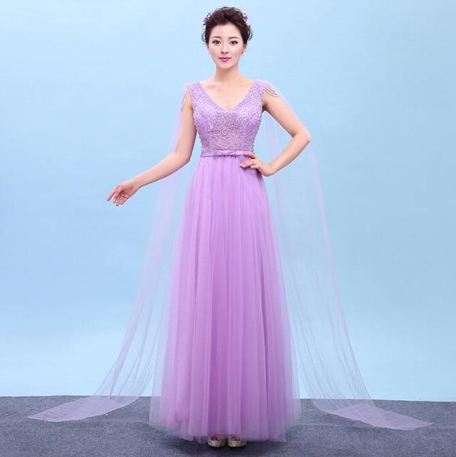 Vestidos de noche lila