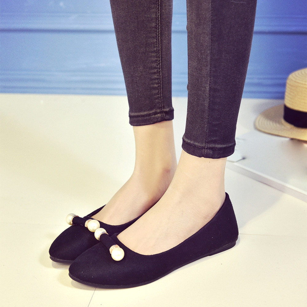 2017 Spring New Fashion Women Suede Single Shoes Girls Pointed Toe Shallow Work Flat Shoes Female Sweet Loafers Shoes May10 new 2017 spring summer women shoes pointed toe high quality brand fashion womens flats ladies plus size 41 sweet flock t179