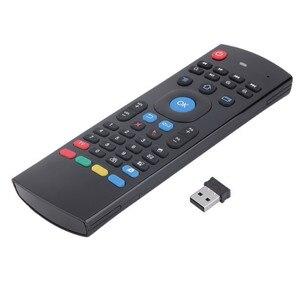 Image 2 - T3M 2,4G Air Maus Drahtlose Tastatur Russische 44 IR Lernen Mic Voice Suche Für Android Smart TV Box PK MX3 t3 Fernbedienung