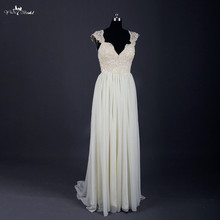 yiaibridal RSW756 Sexy Backless Wedding Dress Cap Sleeves