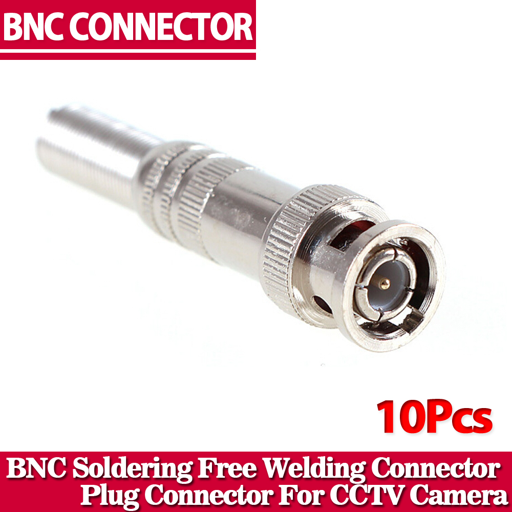 BNC Free Welding BNC Male Coaxial Cable Connector Adapter for CCTV Video Camera