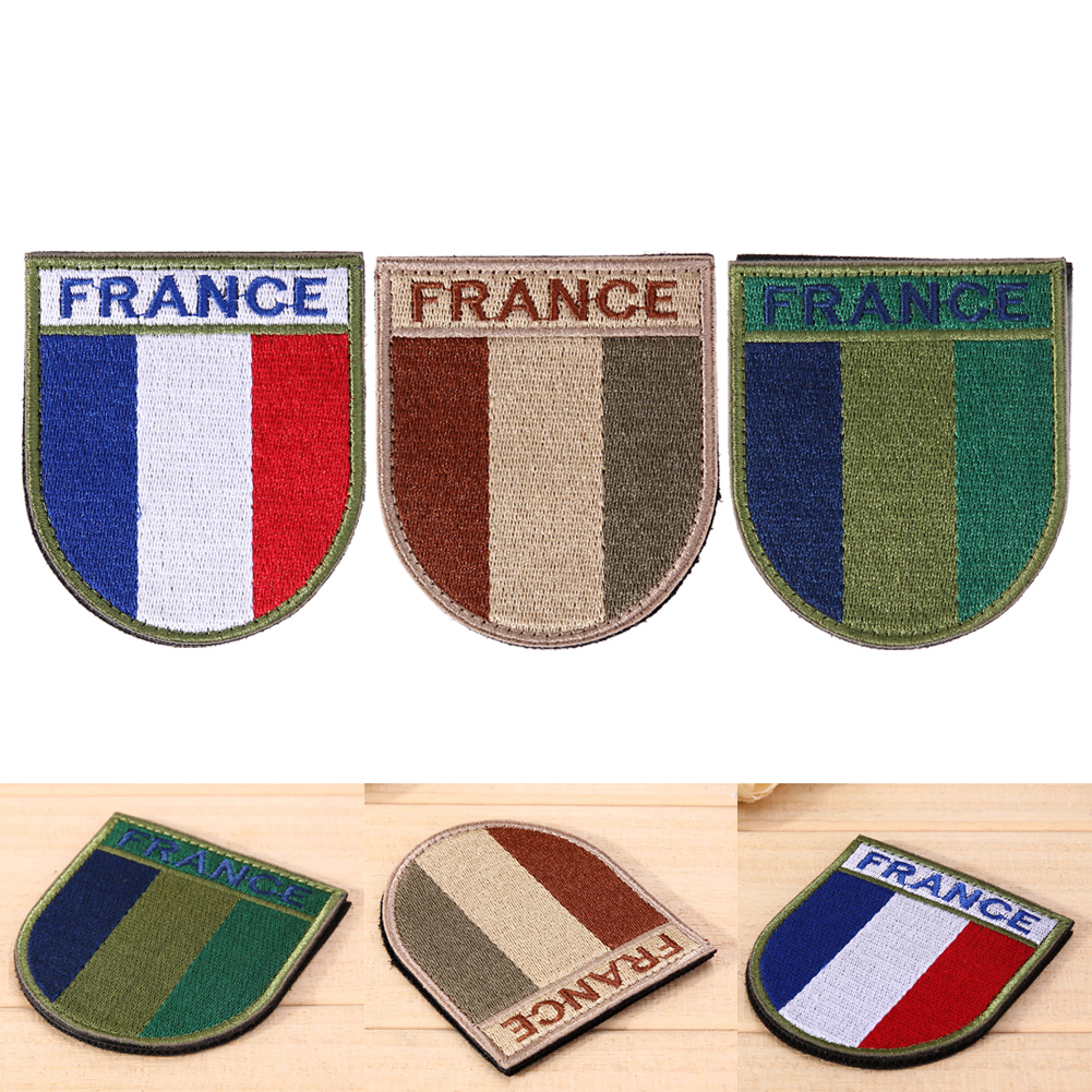 US $1 44 10% OFF Arms Badge Embroidered Badge Stickers on Clothes Bag  Tactical Army Morale Badges France Flag DIY Patches Sewing Accessories-in