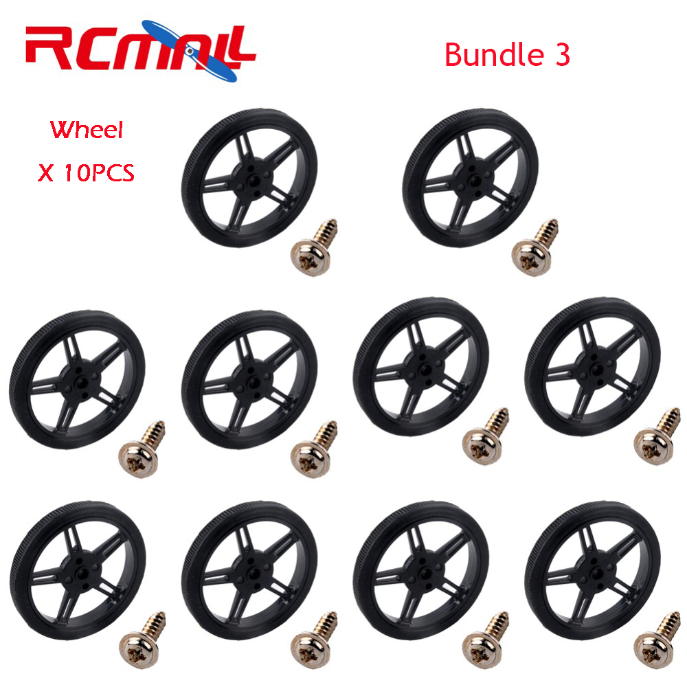 10PCS lot Feetech FS90R Servo Wheel 360 Degree Continuous Rotation Micro RC Servo For Robot RC Car Drones FZ0101 01 FZ2913 in Propulsion from Consumer Electronics