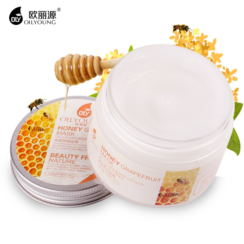 Honey Grapefruit Face Mask Whitening Moisturizing Anti Wrinkle Anti-Aging Acne Treatment Shrink Pores Facial Masks Skin Care free ship ms whitening skin beauty skin care cosmetic sets anti wrinkle whitening moisturizing shrink pores face care cream