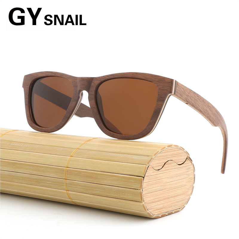 629df0ddd3adc GY vintage Designer WOOD men Sunglasses Polarized Wooden Sun glasses for  women goggles Wood mirror coating in wood box oculos