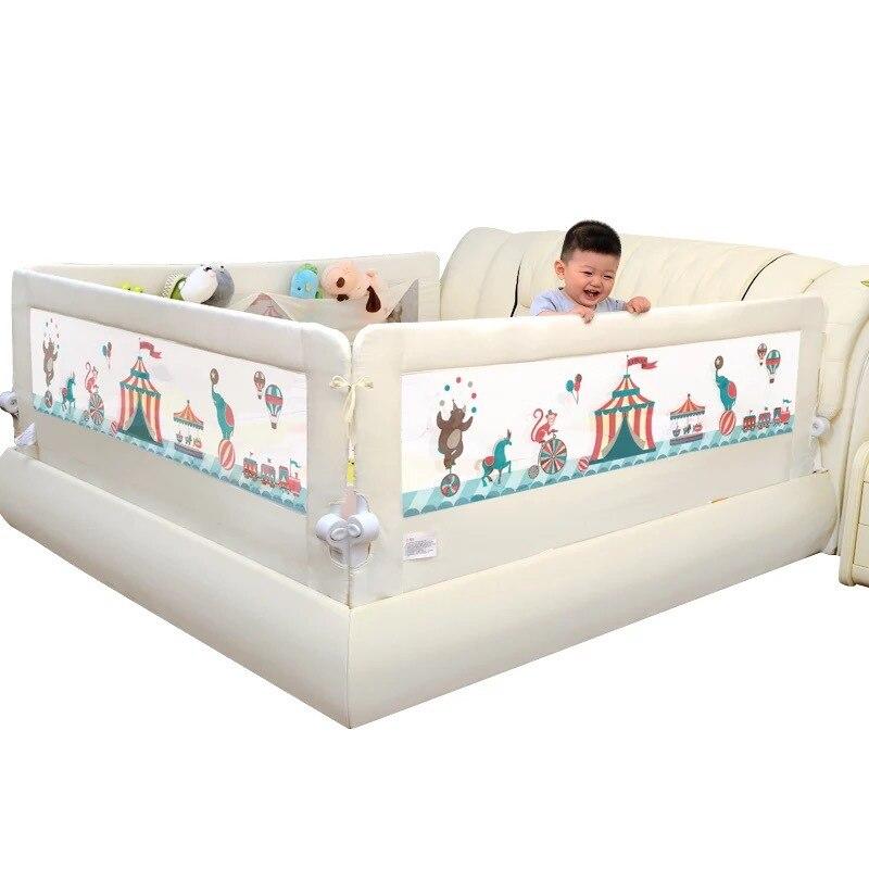Детская кровать Кроватка Забор 1,5-2 м осень ограждение повышение перегородка кровать рельс с большим карманом