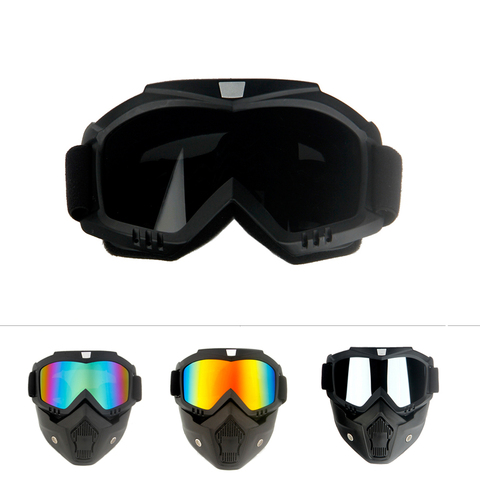 Queshark Ski Snowboard Mask Winter Ski Snowmobile Goggles Windproof Skiing Glasses Cycling Sunglasses With Mouth Filter Lahore