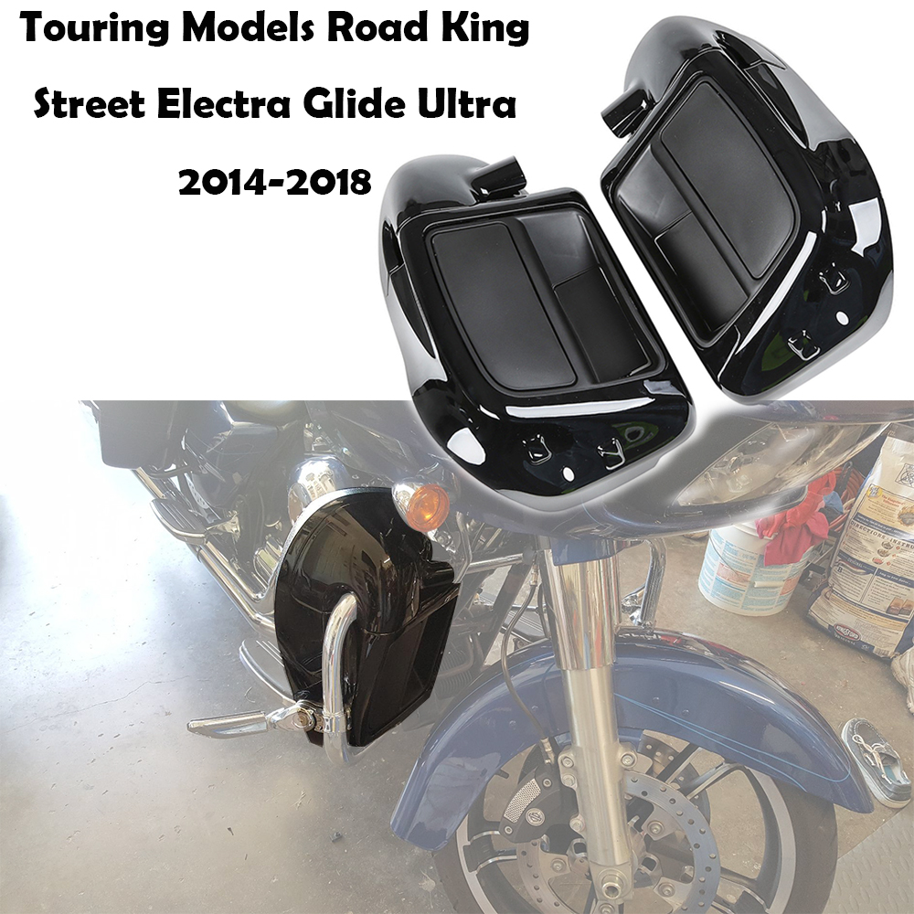 Per Harley Road King Street Glide Electra Glide Ultra-Classic Bassa Ventilato Leg Carenatura Glove Box 2014-2018