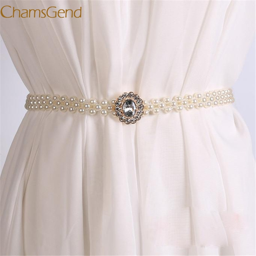 Chamsgend Newly Design Women's Fashoin Faux Pearl Beads   Belt   Strap 160616 Drop Shipping