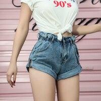Sexy High Waist Denim Shorts Summer Rolled Hem Jean Shorts Women Casual Loose Shorts Hotpants