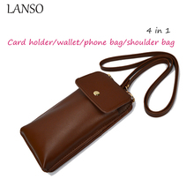 Hot Sale 4 in 1 Cell phone Multi-Purse Classic Vintage Style Shoulder Bag Unisex Crossbody Bags Coin Purses Credit Card Holder