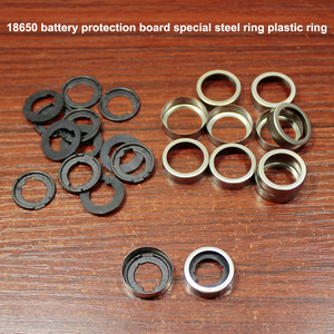 Image 1 - 100pcs/lot 18650 lithium battery protection board stainless steel ring cap battery protection board rubber pad base rubber ring