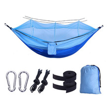 1-2 Person Bearing 300KG Outdoor Mosquito Net Parachute Hammock Camping Hanging Sleeping Bed Swing Portable with Net Mosquito ultralight mosquito net hunting hammock camping mosquito net travel mosquito net leisure hanging bed for 2 person outdoor