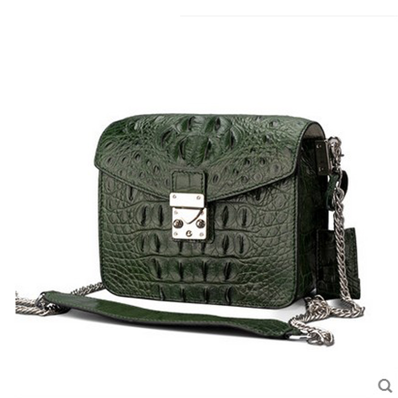 jialante 2017 new crocodile leather small square bag chain mini slanting leather lock bag female jialante 2017 new lizard leather bag is made of simple small shell bag customized for 15 days