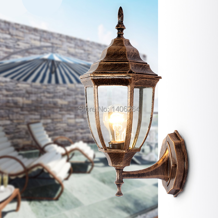 ФОТО Archaize Outdoor Lamp Courtyard European-style Garden(Bronze)Waterproof  Wall Lamp
