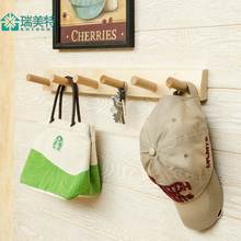After Wood Wall coat rack door hanger creative bedroom wall hook rack wall hook hanger entrance