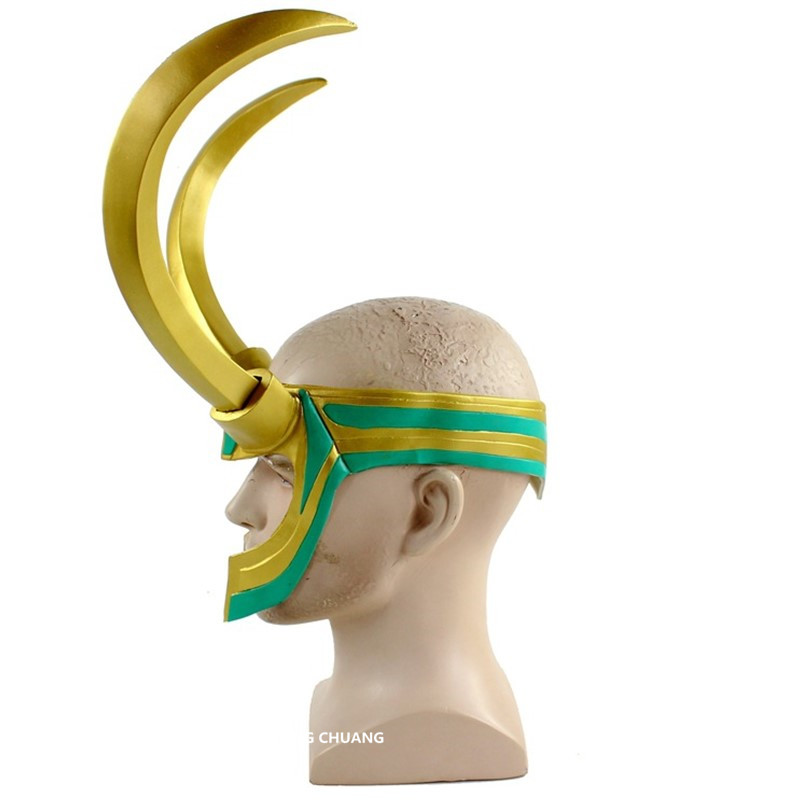 life Size Thor Ragnarok Megamind Loki Mask Cosplay Helmet 1:1 Loki Laufeyson Pvc Action Figure Collectible Model Toy Opp D576 Fine Workmanship