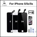 Mejor calidad aaa sin píxeles muertos pantalla lcd para iphone 5 iphone replacment pantalla 5c iphone 5s pantalla lcd táctil digitalizador asamblea completo