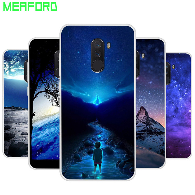 superior quality 4aa7c 2476f US $1.27 11% OFF|Silicone Case For Xiaomi POCOPHONE F1 POCO F1 Phone Case  Space Print Soft Cover For Xiaomi POCOPHONE F1 Clear bumper Coque Capa-in  ...