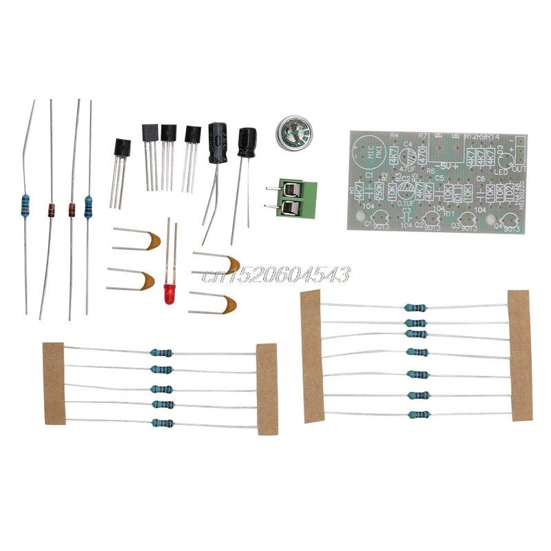 Voice Sound Activated LED Switch Clapper Control Trousse DIY Kit Suite New R06 Drop Ship