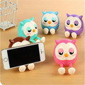 Multifunctional Cute Owl Pattern Mini Saving Money Box Function Universal Phone Stand Holder for phone Accessories Kids Gifs