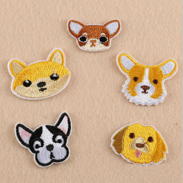 10pcs/bag dog Cartoon pattern Patch Computer Embroidery Badges Hand ...