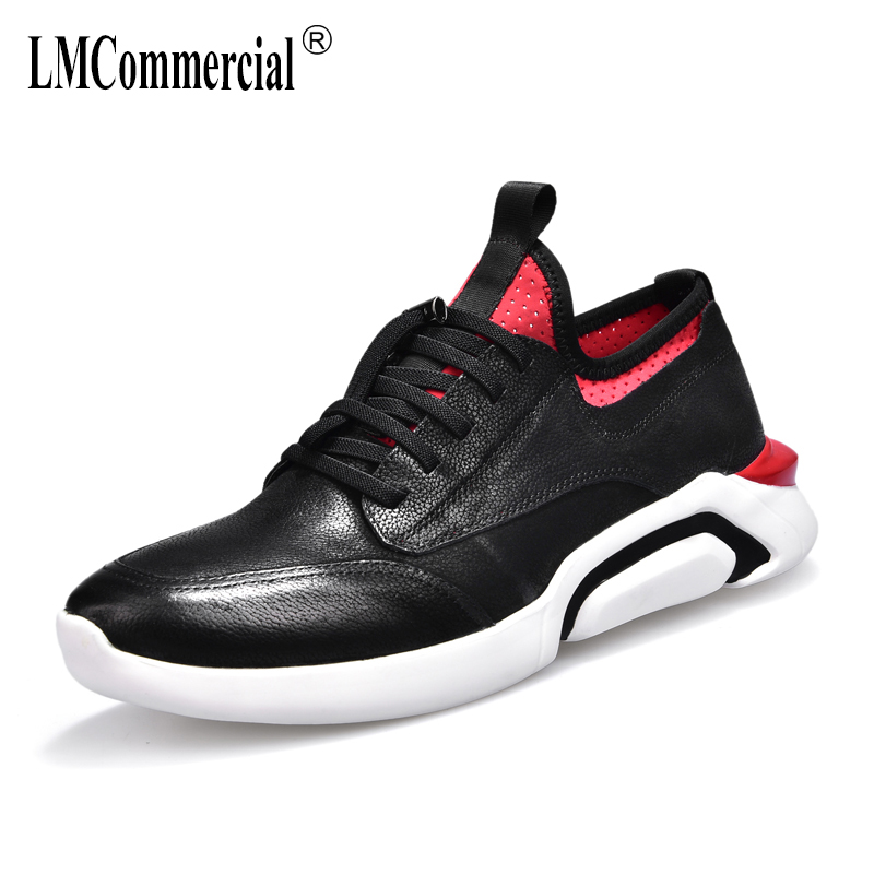 men's shoes spring autumn summer Genuine leather shoes men 2018 all-match cowhide breathable sneaker fashion male casual shoes 2017 new spring imported leather men s shoes white eather shoes breathable sneaker fashion men casual shoes