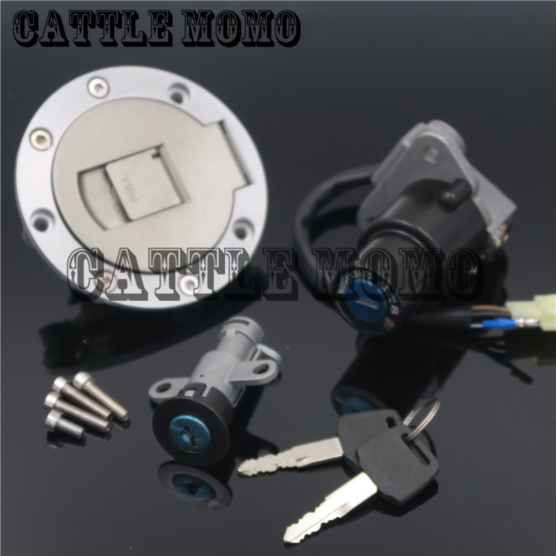 Motorcycle Ignition Switch Lock Fuel Gas Cap Lock Key Seat One Set For YAMAHA TZR125 TZM150 TZR150 TDM850 Ignition Switch Lock