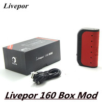 Yosta Livepor 160 Box Mod 510 E Cigarette 160W Vape VW TC With Dry Coil Electronic