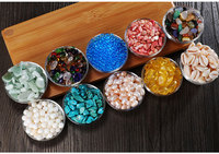 Wholesale Buddhist supplies # HOME Temple Buddhist utensils gemstone Tantra Worship Buddha 10 jewels Crystal Turquoise Pearl