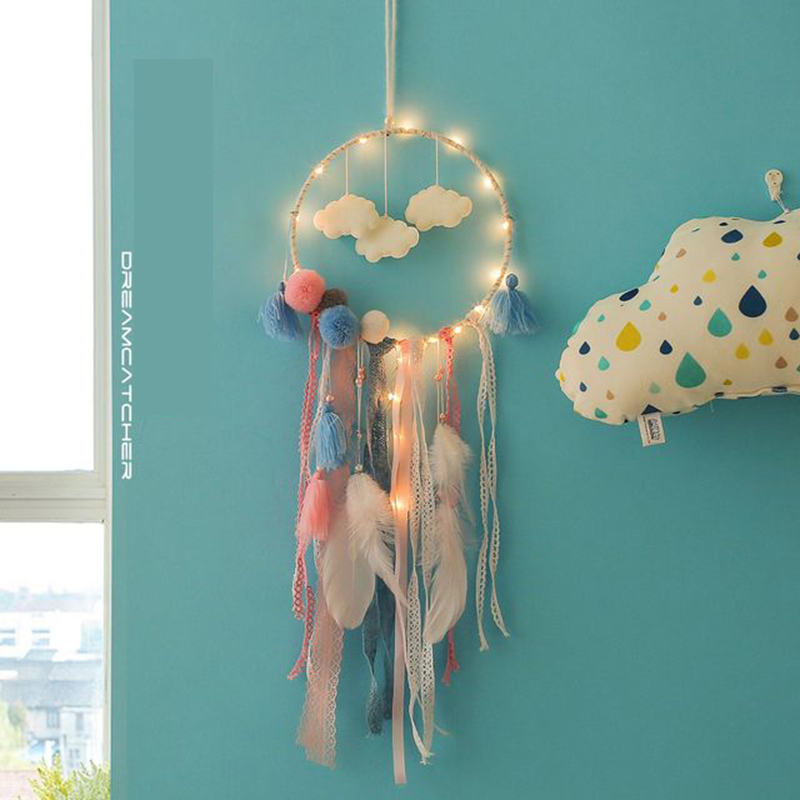 Lights & Lighting Amicable 20 Led Cloud Dream Catcher Copper Wire Fairy Light Led String Wedding Natal Garland New Year Christmas Decorations For Home