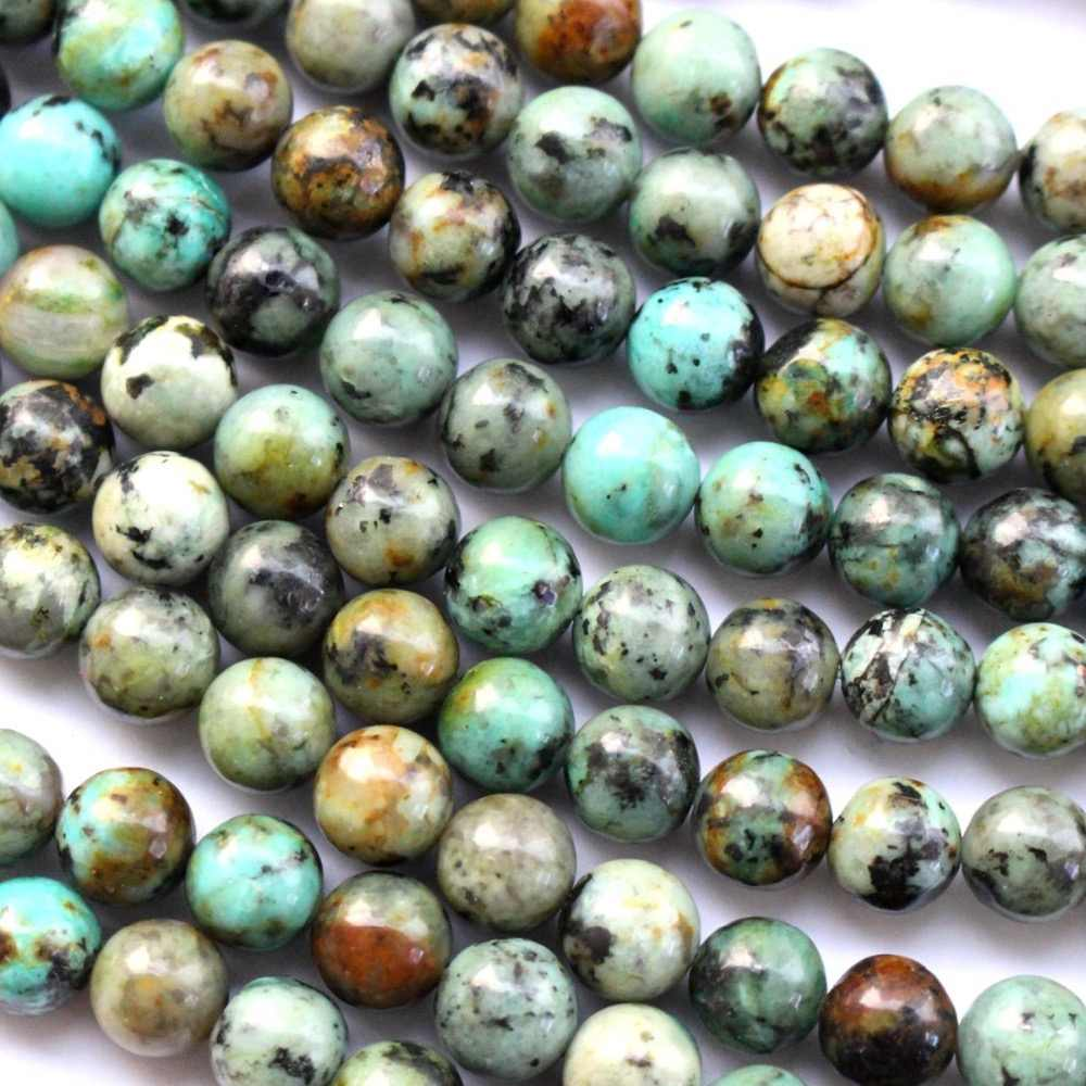 Natural 8mm african turquoises loose beads for diy approx 45pcs loose beads