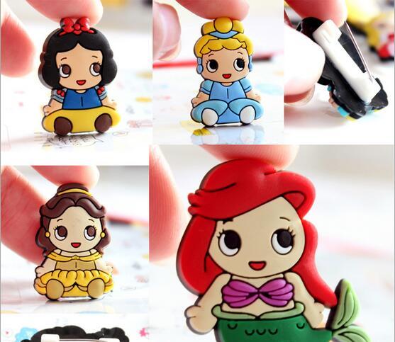 The princess badge safety pin Bag clothes ornaments PVC badge