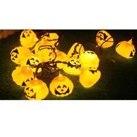 10LED 2 5M Halloween Decoration Pumpkins LED String Lights Lanterns Lamp For DIY Home Bar Outdoor