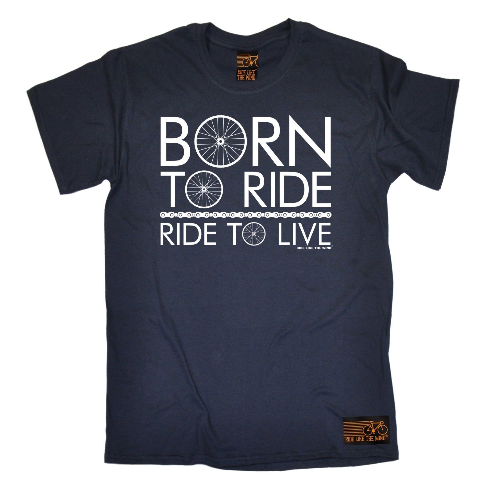 Born To Ride Ride To Live T-SHIRT Cycler Bicycle Biker Bmx Funny Gift Birthday Hot Selli ...