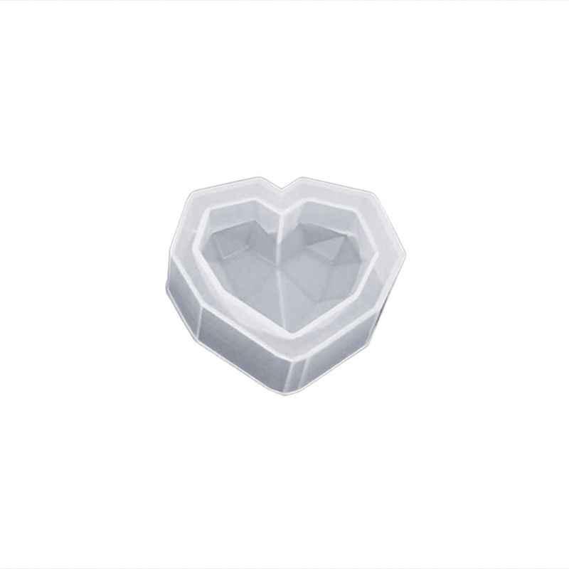 Handmade Decoration Pendant Irregular Ornaments DIY Jewelry Making Epoxy Resin Molds Silicone Mold Geometric Heart Shape