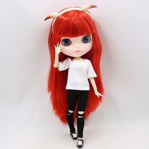 Image 5 - Blyth combinaison de poupées rouges petit diable avec articulation à visage mat vêtements de corps et chaussures de corps corne diable, ensemble à main AB en cadeau 1/6 BJD