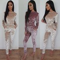 Autumn Women Jumpsuit Long Pants Romper 2017 Bandage Long Playsuit Fitness Catsuit Sexy Club Elegant Slim Jumpsuits Overall