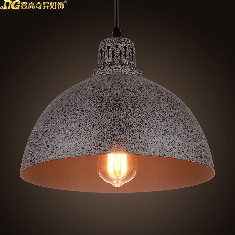 American Country Industrial Rust  Dining Room Pendant Light Vintage Living Room Light Retro Warehouse Light Free Shipping