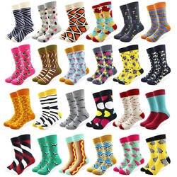 29 вышивка крестом картины для мужчин забавные чесаный удобные носки из хлопка красочные Multi узор длинные трубки скейтборд повседневное