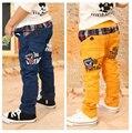 2016 Nuevos Niños de Primavera y Otoño Pantalones de Los Niños Del Bebé Desgaste del Cabrito de la Manera Estilo Coreano Pantalones Causual para 3-8 Años de edad