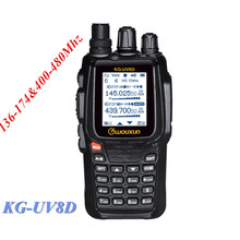 Hot Wouxun KG-UV8D Dual Band Handy Talky Standard Transceiver 136-174&400-480MHz Walkie Talkie