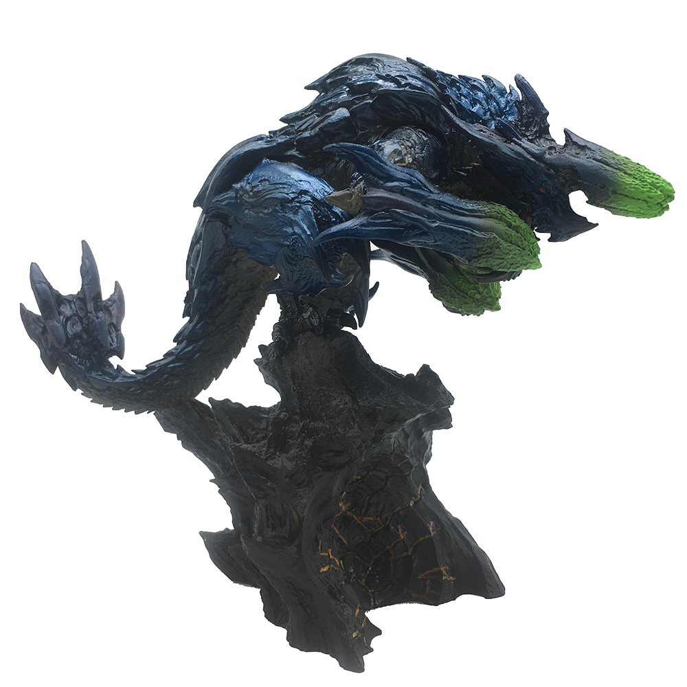Japanese Anime Monster Hunter 3G Figure Brachydios PVC Models Beast Dragon Action Figure Decoration Toy Model solid 14k rose round 13mm gold diamond natural blue topaz ring wedding ring hot sale