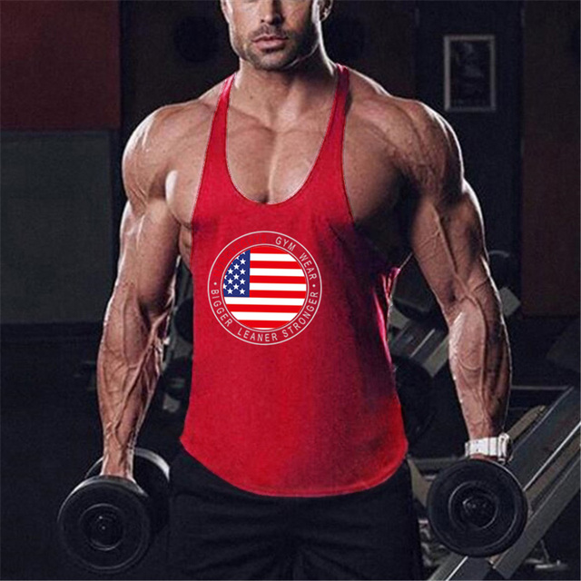 Brand bodybuilding fitness clothing gyms stringer tank top men musculation vest men undershirt solid Muscle tank blank Tops