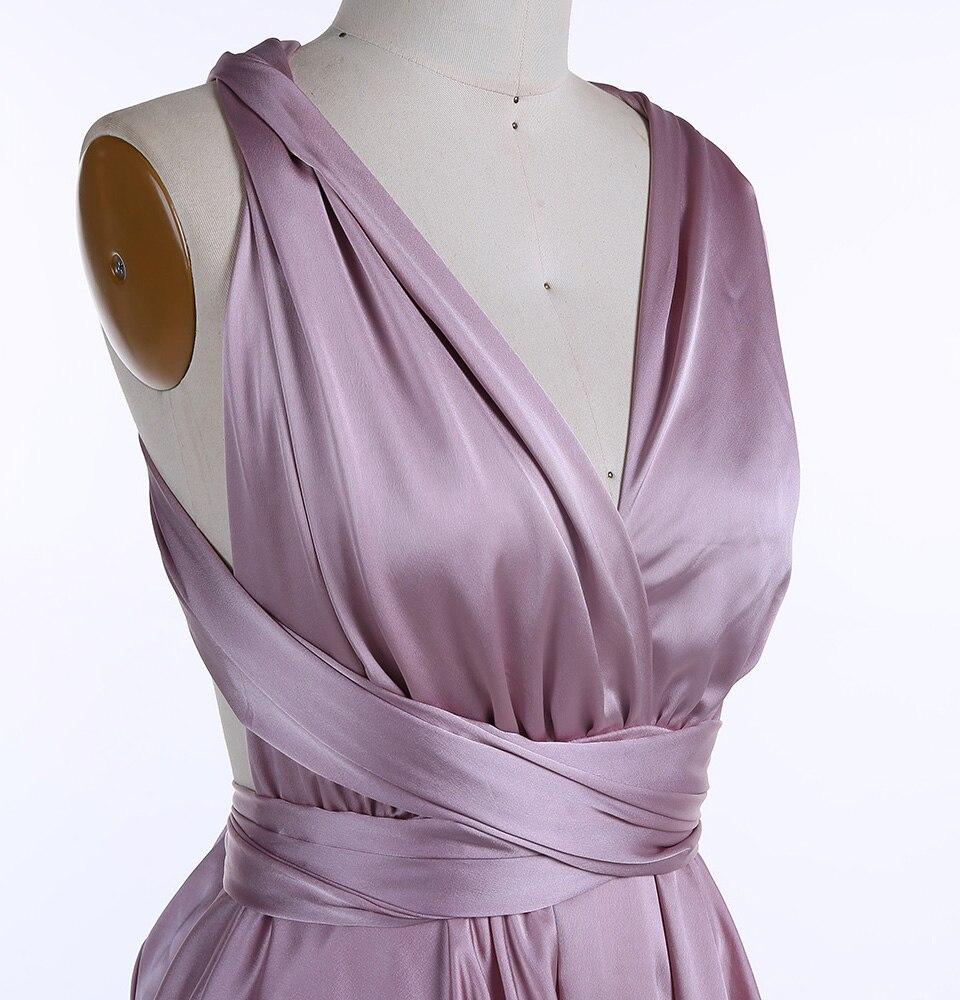 Lavender Criss-cross Short Bridesmaid Dress